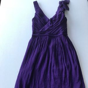 J.Crew Serena Silk Chiffon Dress Purple Size 4
